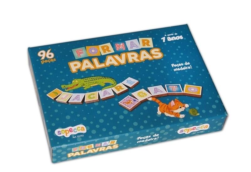 JOGO 96PCS FORMAR PALAVRAS MADEIRA SOPECCA
