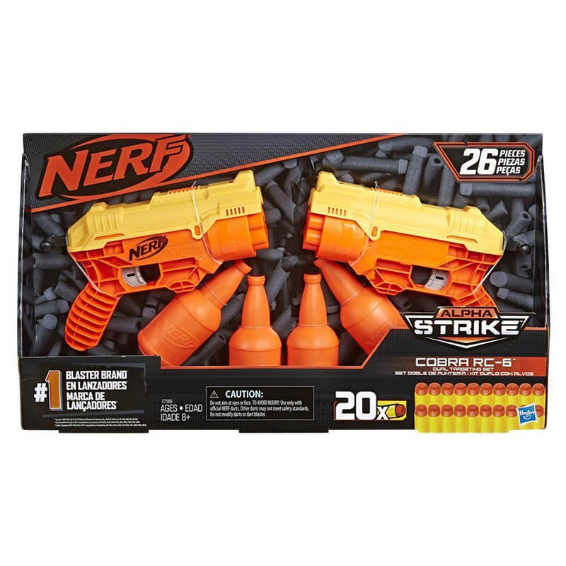 Kit Duplo com Alvos NERF Alpha Strike Cobra RC-6 - Hasbro