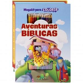 LIVRO MEGAKIT P/COLORIR AVENTURAS BIBLIBAS TODOLIVRO