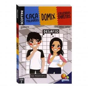 LIVRO SCOTTINI CACA PALAVRAS/DOMIX/CRUZADAS DIRETAS N°2 TODOLIVRO