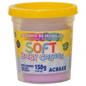 Massinha de Modelar Soft Baby Colors 150g – Lilás Bebê – Acrilex