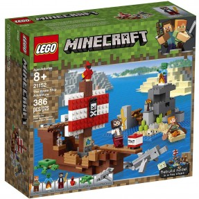 LEGO MINECRAFT - A AVENTURA DO BARCO PIRATA 386PCS
