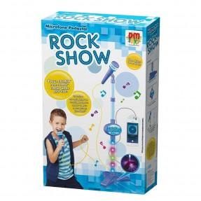 MICROFONE PEDESTAL AZUL ROCK SHOW DM BRASIL