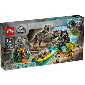 LEGO JURASSIC WORLD - COMBATE T.REX VS ROBO DINOSSAURO 716PCS