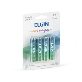 PILHA ALCALINA LR6A AA C/4 ELGIN