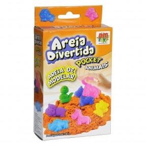Areia Divertida Pocket Animais - DM Toys