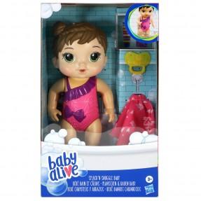 Baby Alive Bebê Banhos Carinhosos Morena - Hasbro