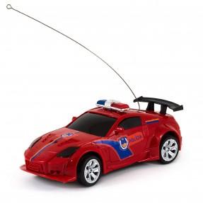 Carro de Controle Remoto Policial Vermelho - DM Toys