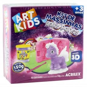 Kit de Massinhas Baby Poney Roxo Art Kids - Acrilex