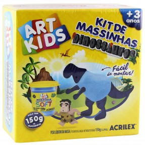 Kit de Massinhas Dinossauros Azul Art Kids - Acrilex