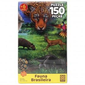 Quebra-Cabeça Fauna Brasileira 150 peças  - Grow