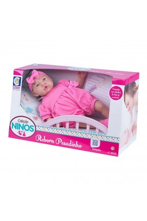 Boneca Ninos Reborn Pesadinho Cotiplás