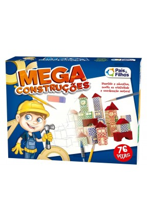 MEGA CONSTRUCAO 76PCS PAIS E FILHOS