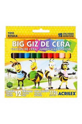 BIG GIZ DE CERA 12 CORES ACRILEX