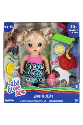 Baby Alive Adoro Macarrão Loira - Hasbro