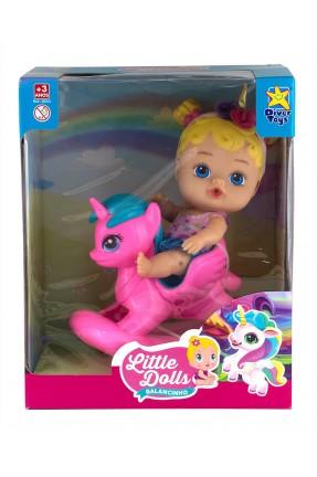 Boneca Little Dolls Balancinho Loira Unicórnio - DiverToys