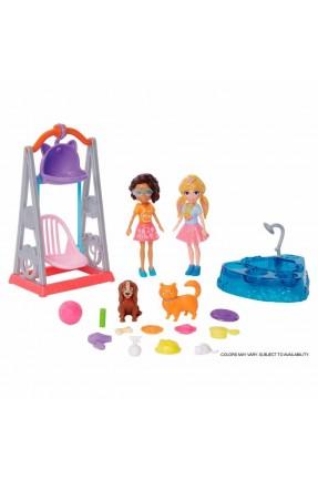 Polly Pocket Hora de Brincar Balanço com Pet - Mattel