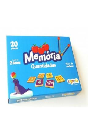 JOGO DA MEMORIA 20PCS QUANTIDADES MADEIRA SOPECCA